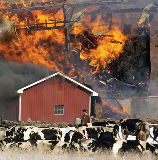Barn Fire Prevention - Reduce the risk of a fire on your farm, in your barn or in your stable.