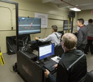 Crane and Hoist Canada - Ontario high school students training on crane simulators