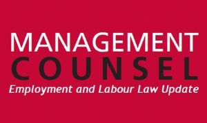Sherrard Kuzz LLP's Employment and Labour Law Update - April 2017